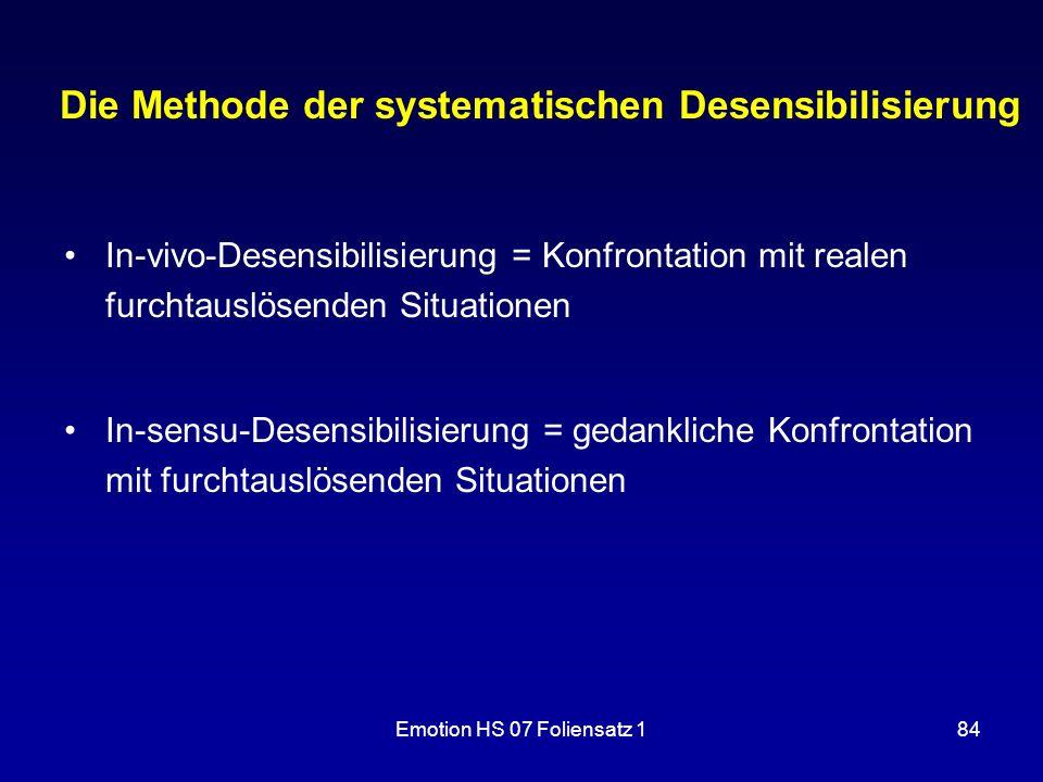Die Methode der systematischen Desensibilisierung
