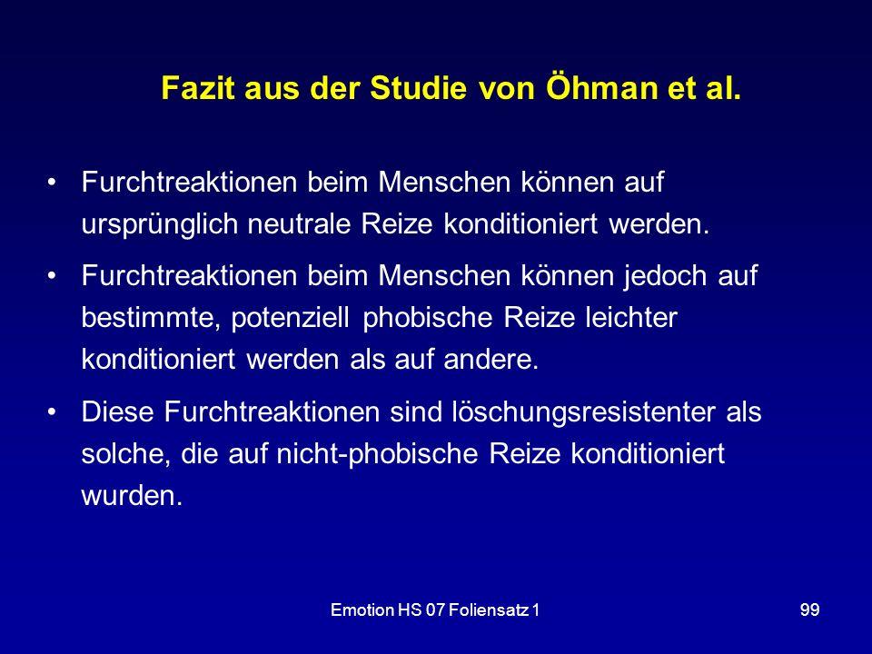Fazit aus der Studie von Öhman et al.