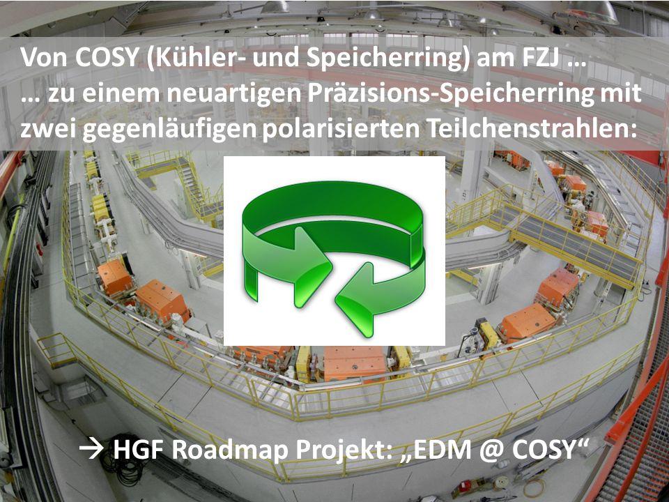 """ HGF Roadmap Projekt: """"EDM @ COSY"""