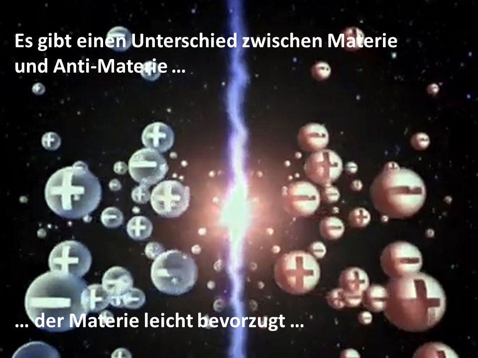 Es gibt einen Unterschied zwischen Materie