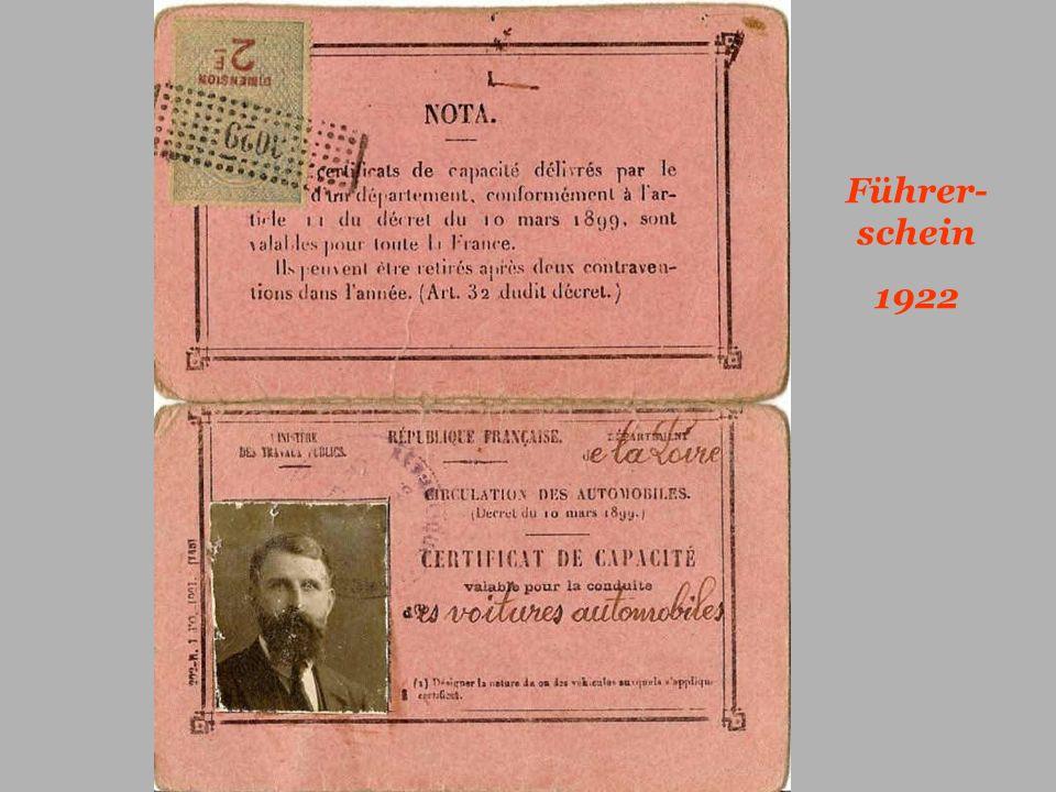 Führer-schein 1922