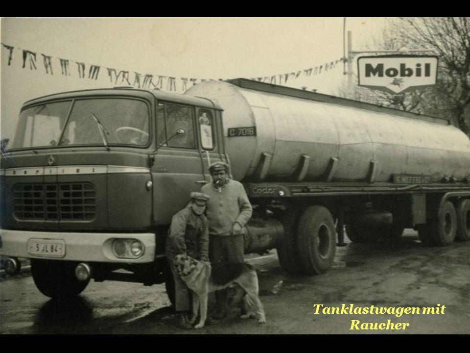 Tanklastwagen mit Raucher