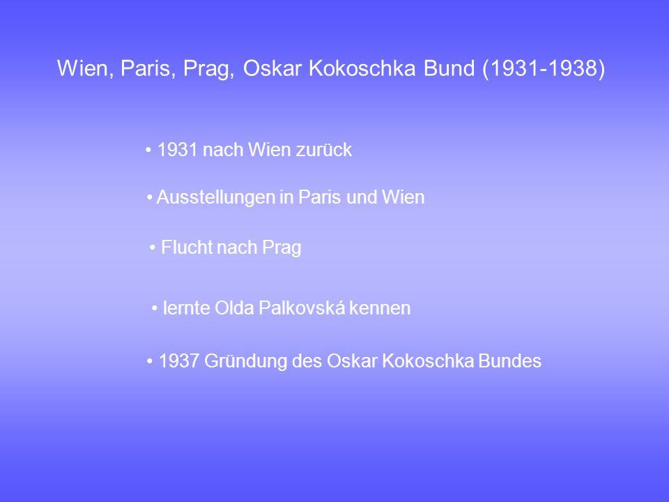 Wien, Paris, Prag, Oskar Kokoschka Bund (1931-1938)