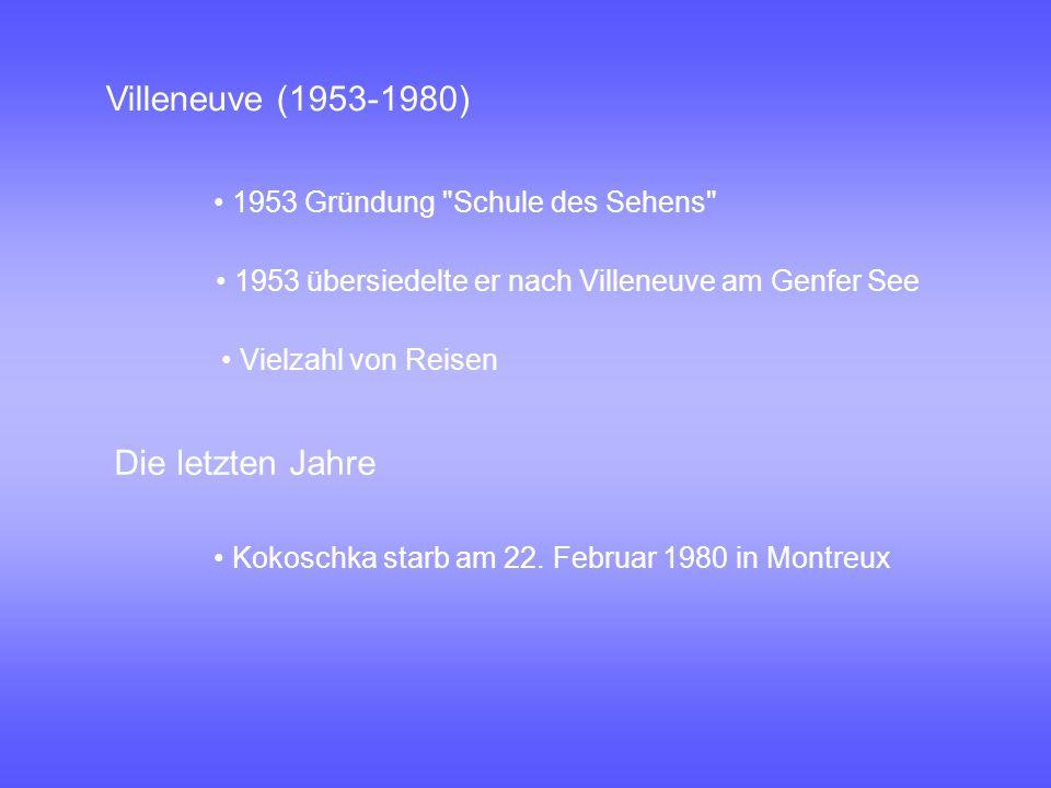 Villeneuve (1953-1980) Die letzten Jahre