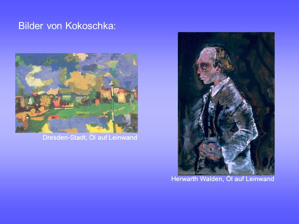 Bilder von Kokoschka: Dresden-Stadt, Öl auf Leinwand