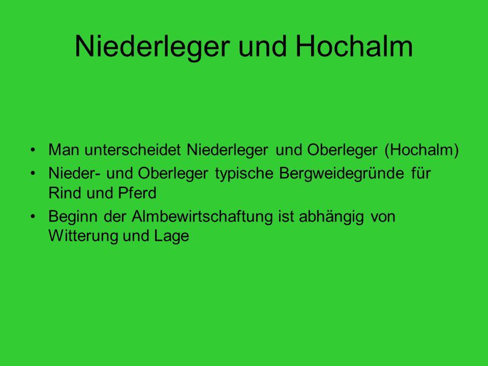 Niederleger und Hochalm
