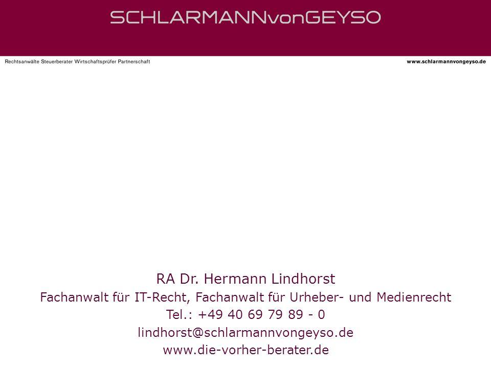 RA Dr. Hermann Lindhorst