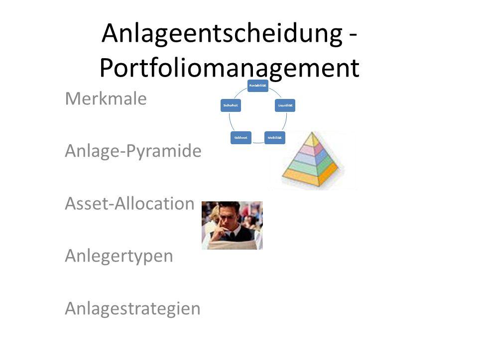 Anlageentscheidung - Portfoliomanagement