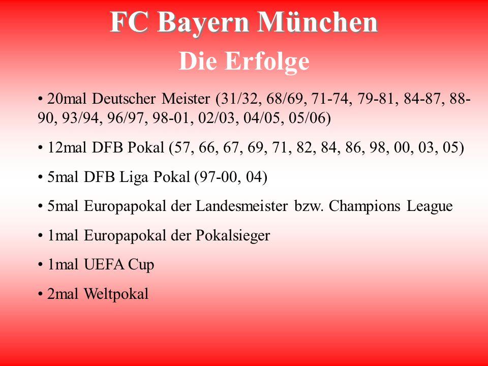 Die Erfolge 20mal Deutscher Meister (31/32, 68/69, 71-74, 79-81, 84-87, 88-90, 93/94, 96/97, 98-01, 02/03, 04/05, 05/06)