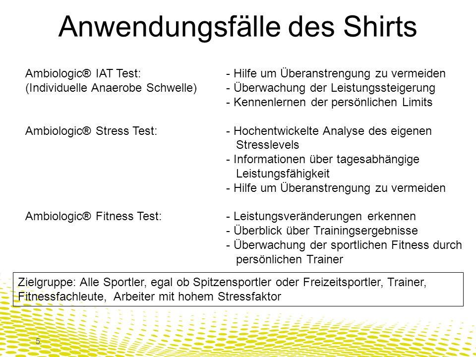 Anwendungsfälle des Shirts