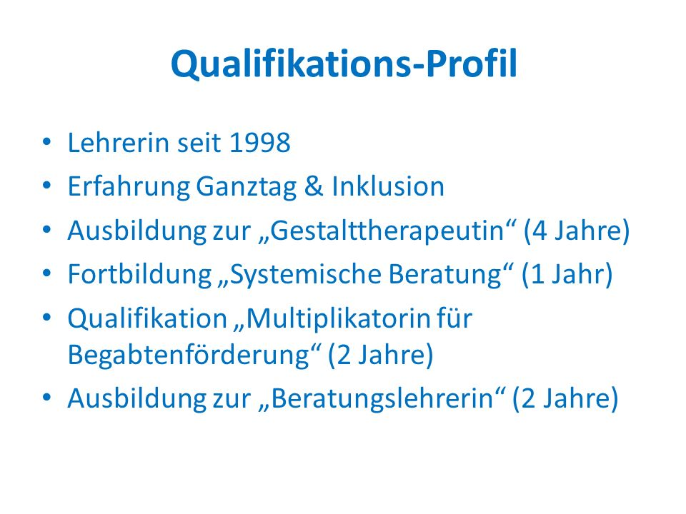 Qualifikations-Profil