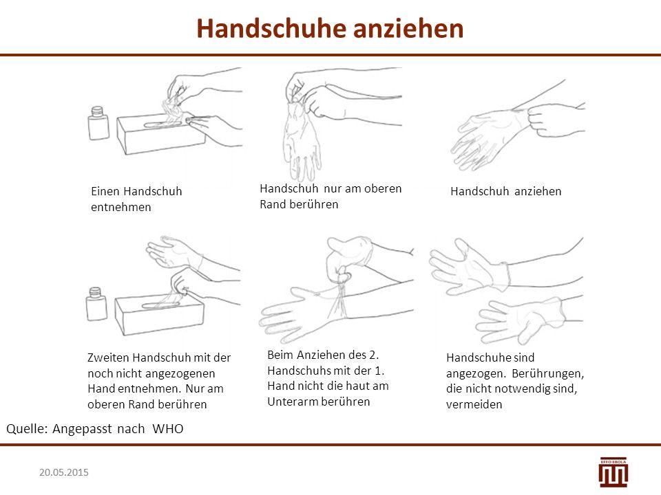 Handschuhe anziehen