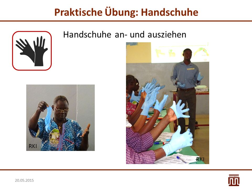 Praktische Übung: Handschuhe
