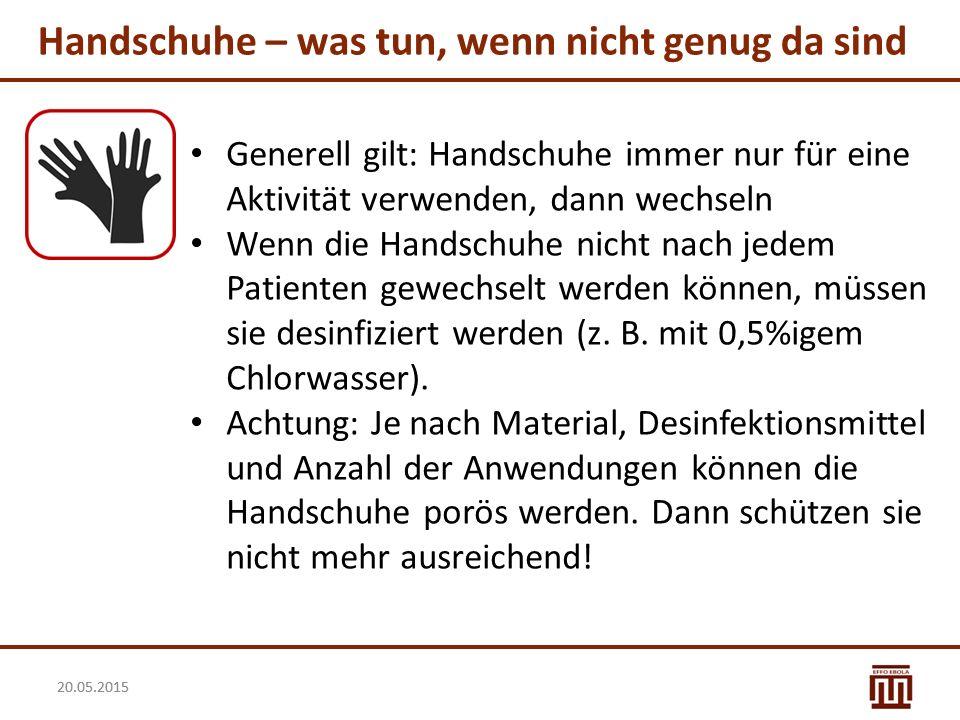Handschuhe – was tun, wenn nicht genug da sind