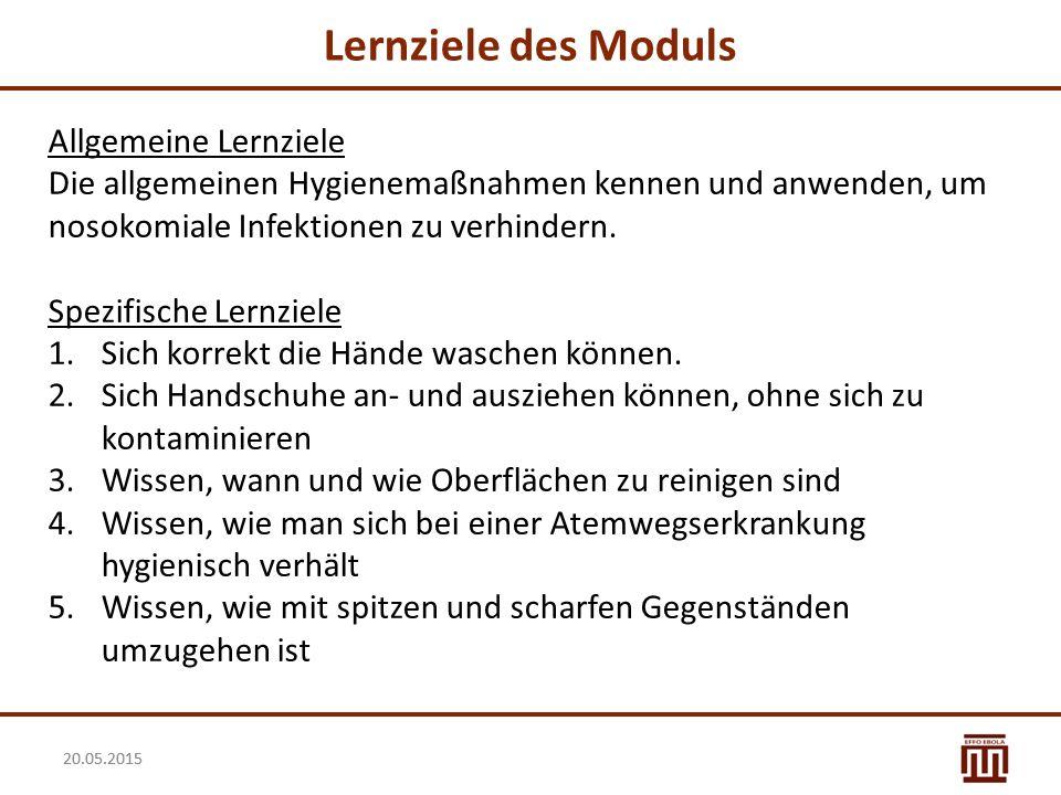 Lernziele des Moduls Allgemeine Lernziele