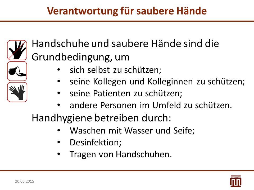 Verantwortung für saubere Hände