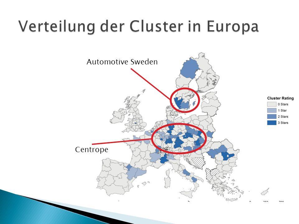 Verteilung der Cluster in Europa