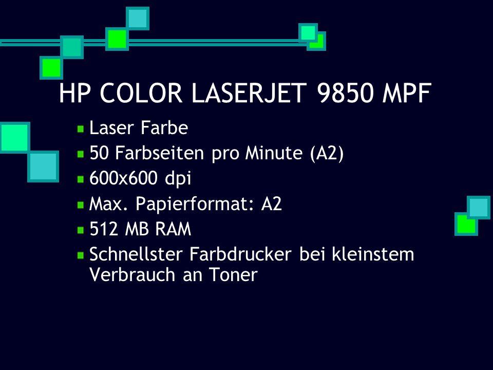 HP COLOR LASERJET 9850 MPF Laser Farbe 50 Farbseiten pro Minute (A2)
