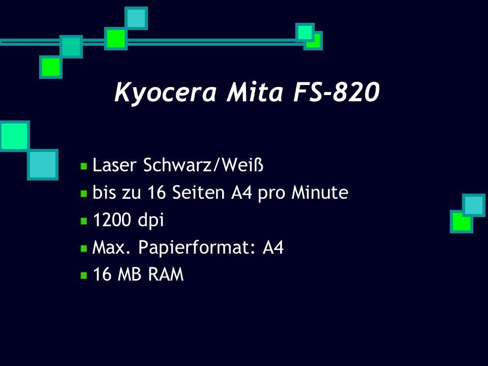 Kyocera Mita FS-820 Laser Schwarz/Weiß bis zu 16 Seiten A4 pro Minute