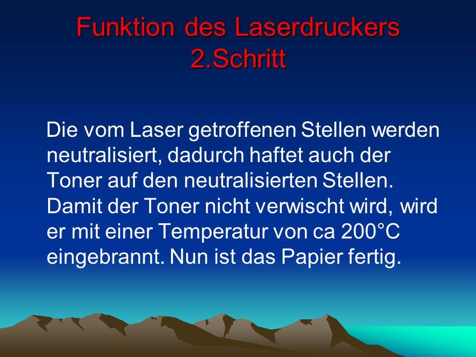 Funktion des Laserdruckers 2.Schritt