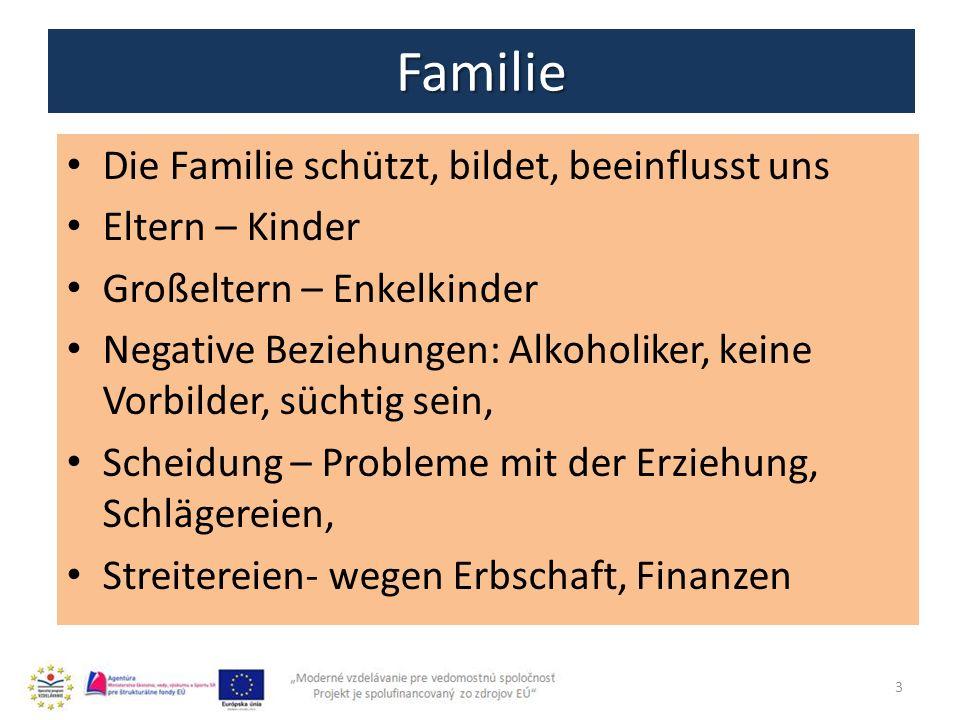 Familie Die Familie schützt, bildet, beeinflusst uns Eltern – Kinder