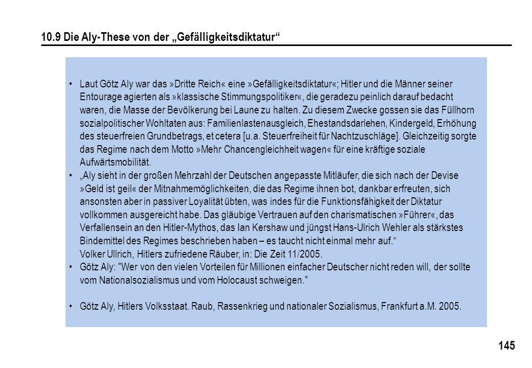 """10.9 Die Aly-These von der """"Gefälligkeitsdiktatur"""