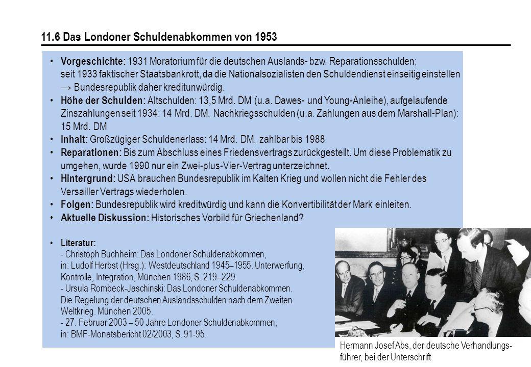 11.6 Das Londoner Schuldenabkommen von 1953