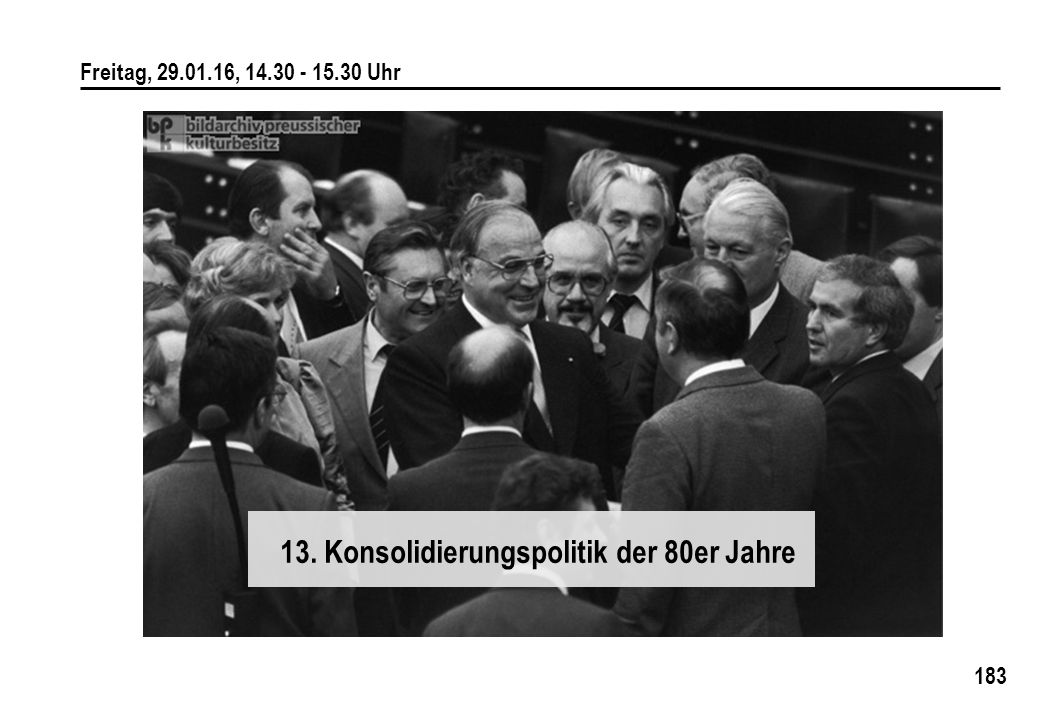 13. Konsolidierungspolitik der 80er Jahre