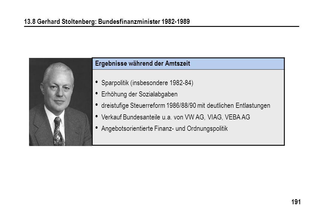 13.8 Gerhard Stoltenberg: Bundesfinanzminister 1982-1989