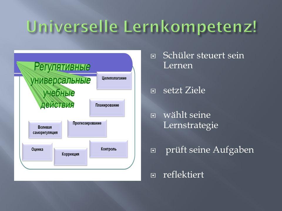Universelle Lernkompetenz!