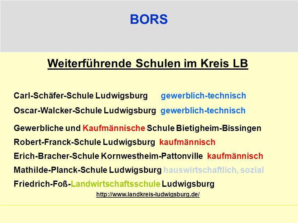 Weiterführende Schulen im Kreis LB
