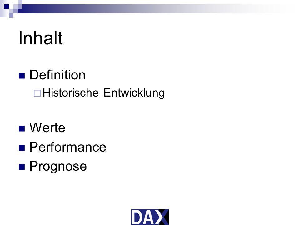 Inhalt Definition Historische Entwicklung Werte Performance Prognose