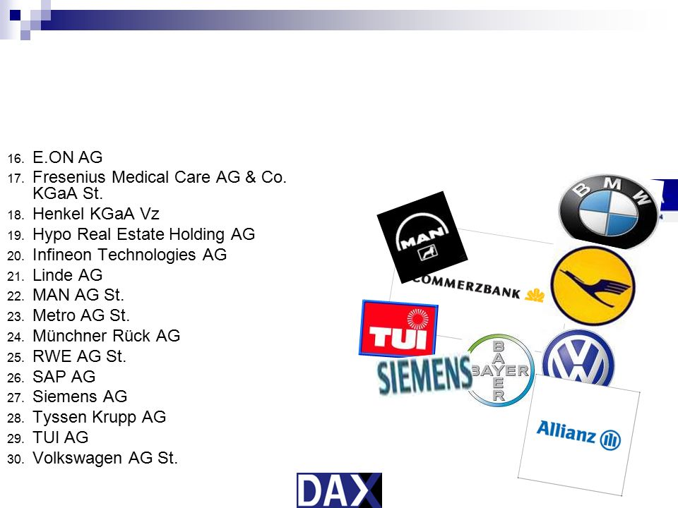 Fresenius Medical Care AG & Co. KGaA St. Henkel KGaA Vz