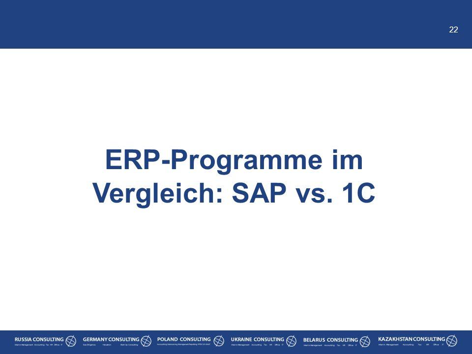 ERP-Programme im Vergleich: SAP vs. 1C