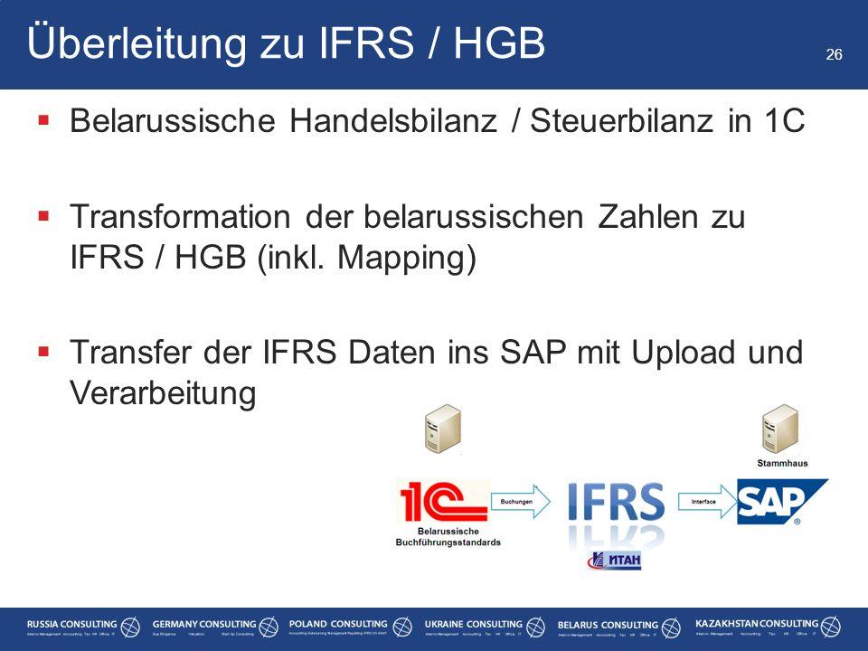 Überleitung zu IFRS / HGB