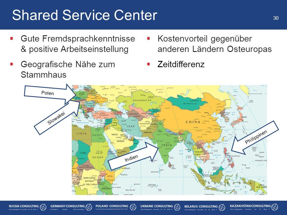 Shared Service Center Gute Fremdsprachkenntnisse & positive Arbeitseinstellung. Geografische Nähe zum Stammhaus.
