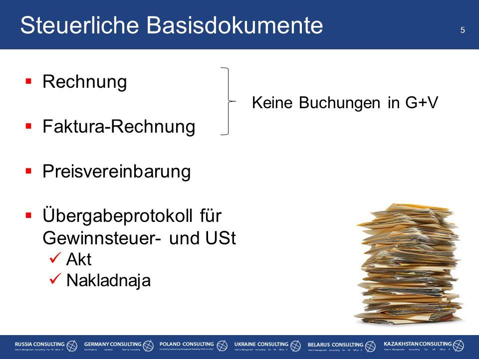 Steuerliche Basisdokumente