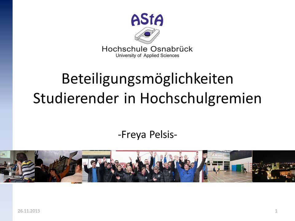Beteiligungsmöglichkeiten Studierender in Hochschulgremien -Freya Pelsis-