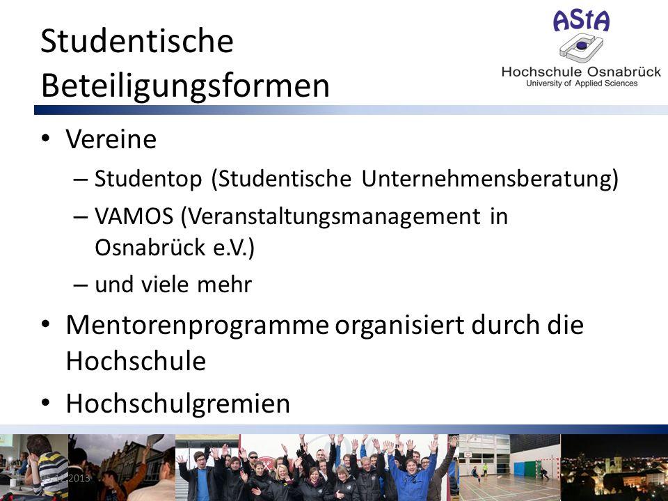 Studentische Beteiligungsformen