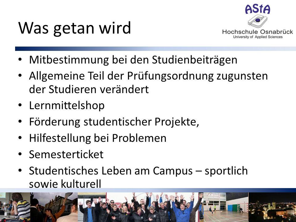 Was getan wird Mitbestimmung bei den Studienbeiträgen