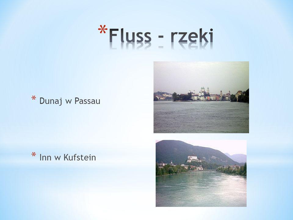 Fluss - rzeki Dunaj w Passau Inn w Kufstein