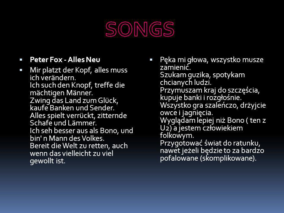 SONGS Peter Fox - Alles Neu