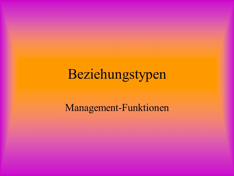 Management-Funktionen
