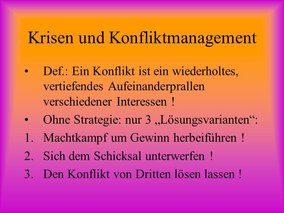 Krisen und Konfliktmanagement