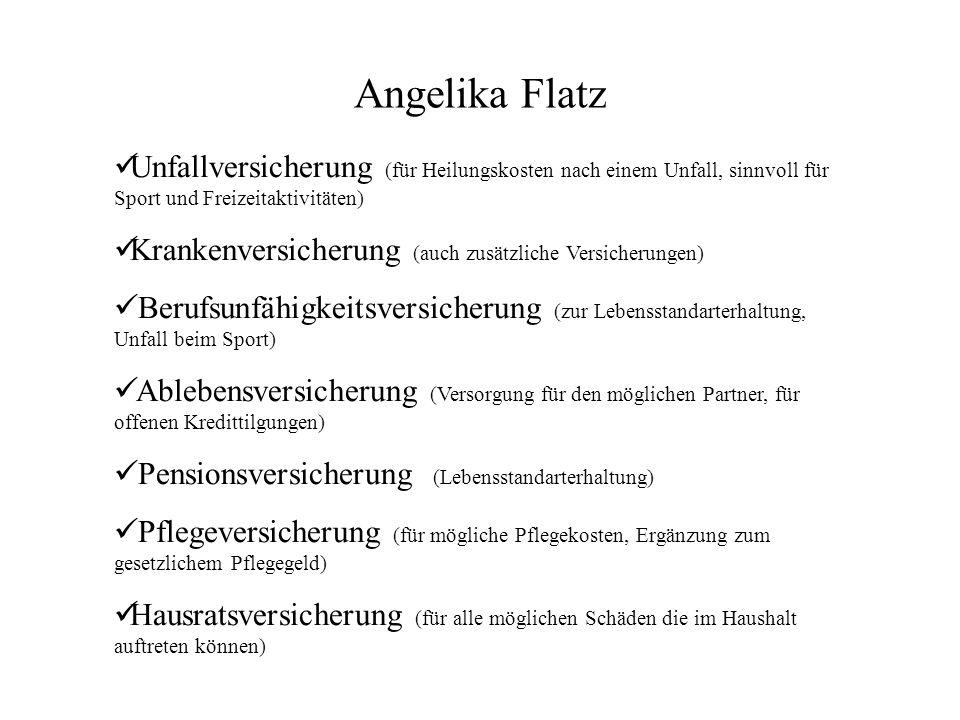 Angelika Flatz Unfallversicherung (für Heilungskosten nach einem Unfall, sinnvoll für Sport und Freizeitaktivitäten)