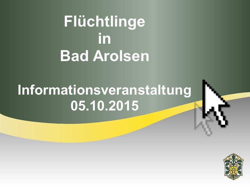 Flüchtlinge in Bad Arolsen Informationsveranstaltung 05.10.2015