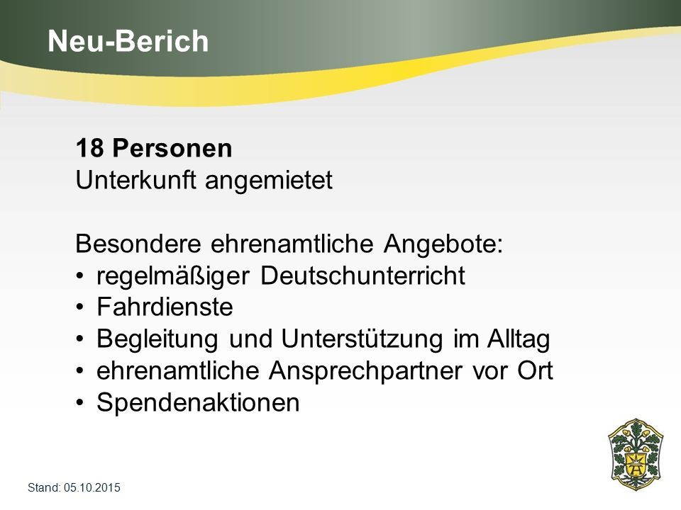 Neu-Berich 18 Personen Unterkunft angemietet