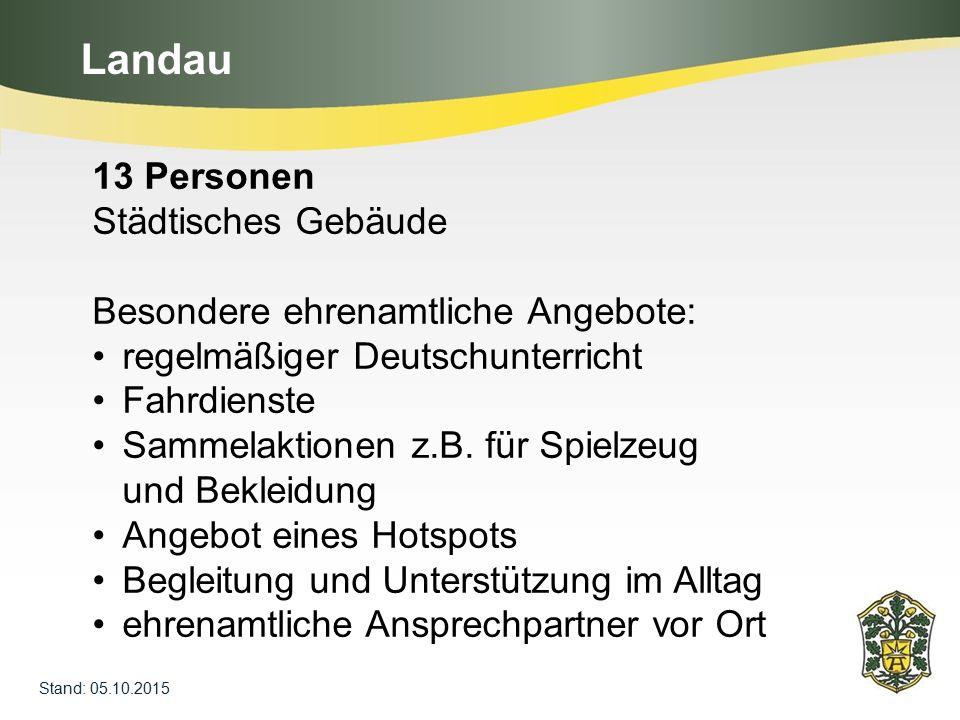 Landau 13 Personen Städtisches Gebäude