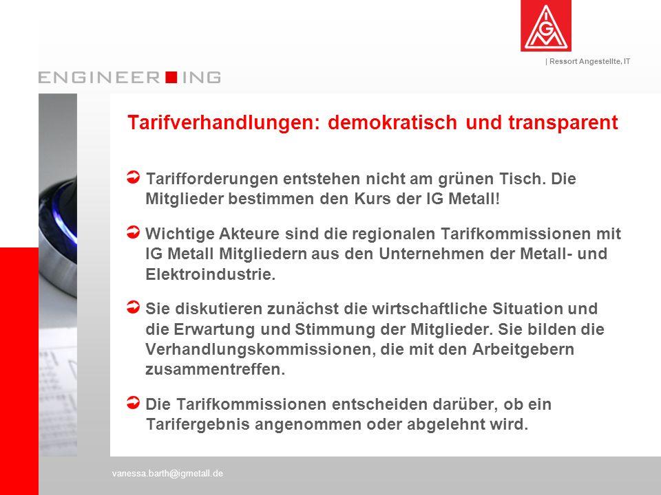 Tarifverhandlungen: demokratisch und transparent