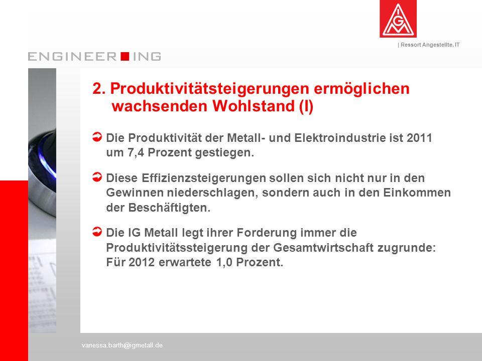 2. Produktivitätsteigerungen ermöglichen wachsenden Wohlstand (I)